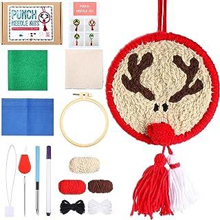 Kit de Broderie d'Aiguille de Poinçon de Fil de Noël pour Débutants DIY Kits de Crochet de Loquet pour Décoration de Maiso...