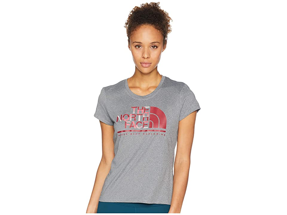 The North Face Short Sleeve Graphic Reaxion Crew Tee (TNF Medium Grey Heather) Women