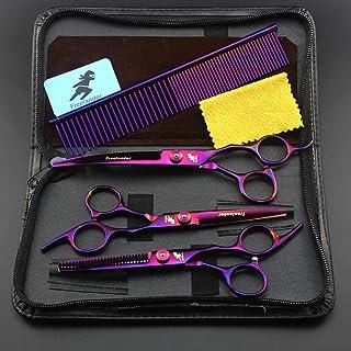 Rozhuhro 7 Pulgadas para Perros Scissor Scissor Curved Chunker Shears Pears Hearting Thinning Shear Scissor Scissor Scisso...