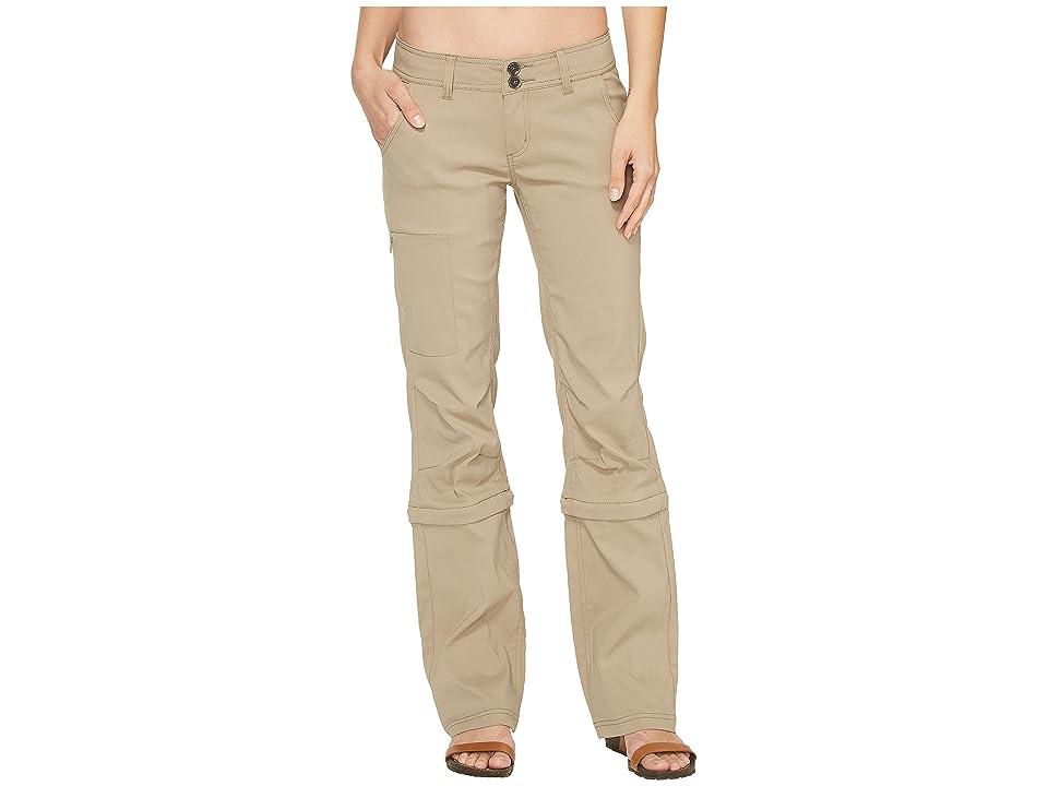 Prana Halle Convertible Pants (Dark Khaki) Women