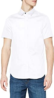 Armani Exchange Stretch Satin Slim Camisa para Hombre