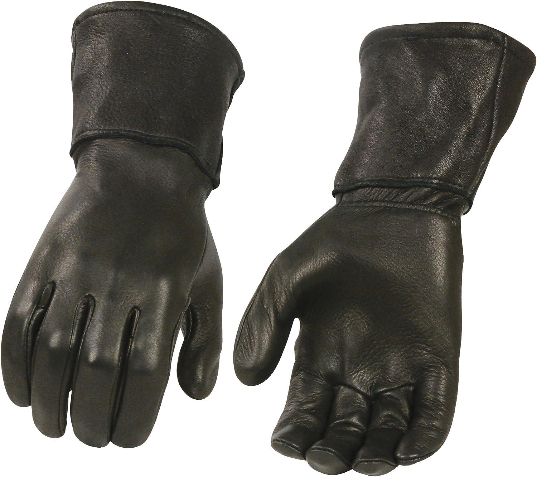 Men's Black Deerskin Leather Thermal Gloves 2021 Phoenix Mall Unlined Gauntlet