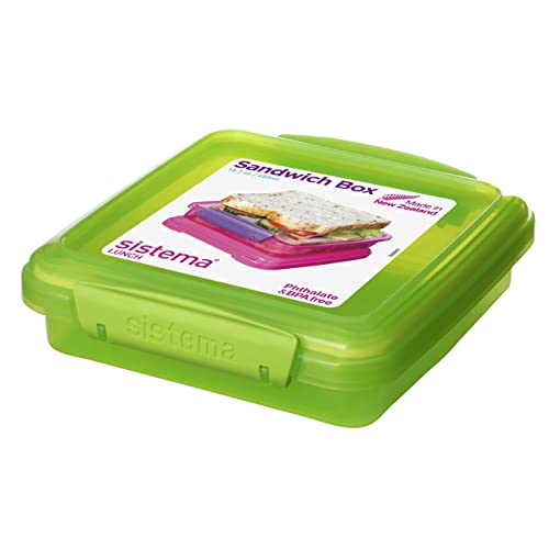 NEW Sandwich Keeper Box Food Storage Container Assorted Colors to Choose From