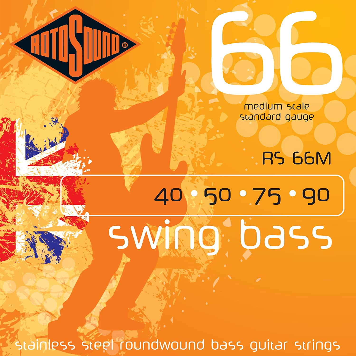 Rotosond Max 61% OFF Stainless Steel Roundwound Our shop OFFers the best service Bass Guitar Strings