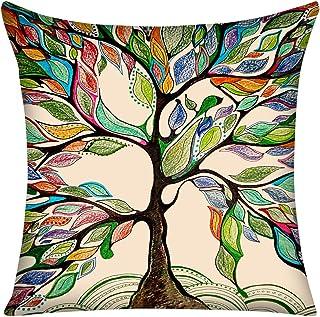 Violetpos Funda de cojín de 40 x 40 cm, con citas de vida, multicolor