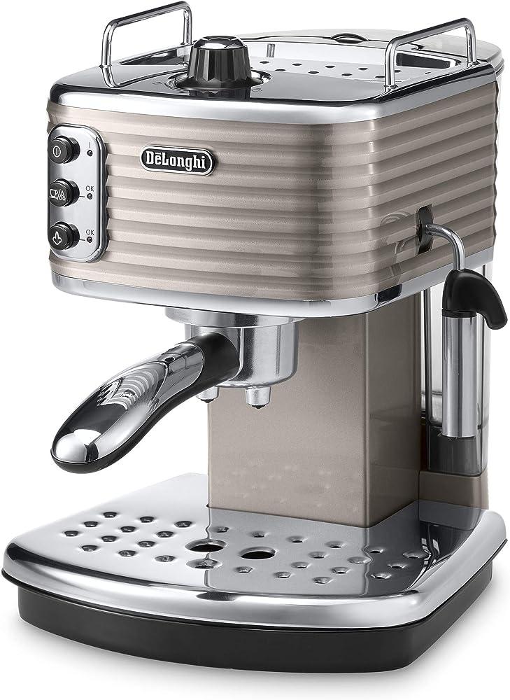 De`longhi scultura,macchina da caffè espresso manuale e cappuccino,caffè in polvere o in cialde e.s.e., 1100 w ECZ351.BG