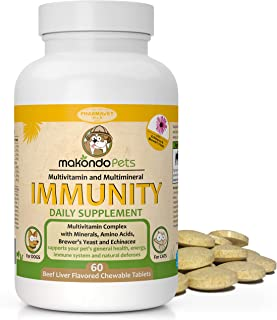 Dog Immune System Boosters–Immunity Boost Supplements for Dogs/Cats –Health Support Chewable Treats System for Your Pets|C...