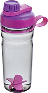 Rubbermaid Shaker Cup for Protein Shakes - 20-Ounce Protein Shaker Bottle for Mixing Whey Protein Powder, Juices, and Smoothies - BPA-Free, Comes with Finger Loop and Blender Paddle Ball - Purple
