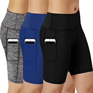Women Performance Athletic Compression Shorts with Side Pocket