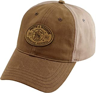 S&W Gray Waxed Canvas Patch Cap - Officially Licensed