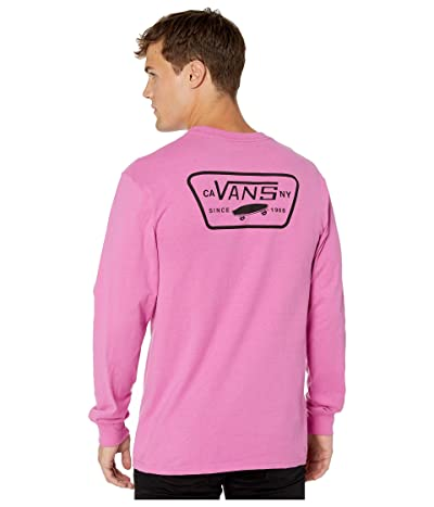 Vans Full Patch Back Long Sleeve Tee (Rosebud/Black) Men