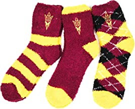 NCAA Arizona State Sun s 3 Piece Fuzzy Sock Bundle, Multicolor, One Size Fits Most