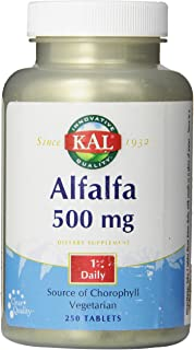 KAL Alfalfa 8 Grain Tablets, 500 mg, 250 Count