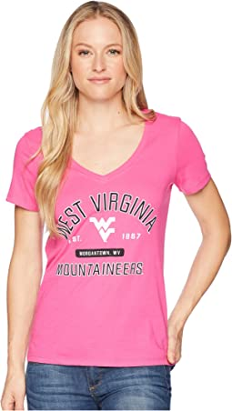 West Virginia Mountaineers University V-Neck Tee