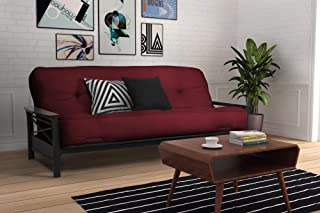 DHP 8-Inch Independently Encased Coil Futon Mattress, Full Size, Merlot
