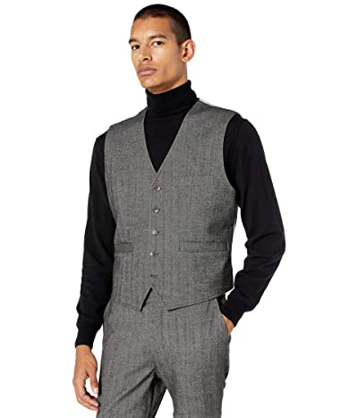 Nifty Genius Albert Stretch Vest in Herringbone (Gray) Men