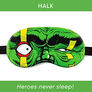 Sleep mask with Super Heroes from Marvel Comics (Halk Plastic Pack)