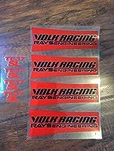 Montree Shop JDM Reflective Rays Volk Racing TE37SL Wheel Sticker Decal red Black letterDrift