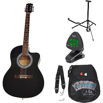 ts-ideen 5331 - Kit de guitarra acústica, color negro: Amazon.es: Instrumentos musicales