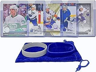 Toronto Maple Leafs Cards: Mitchell Marner, John Tavares, Auston Matthews, Morgan Rielly, Frederik Andersen ASSORTED Hockey Trading Card and Wristbands Bundle