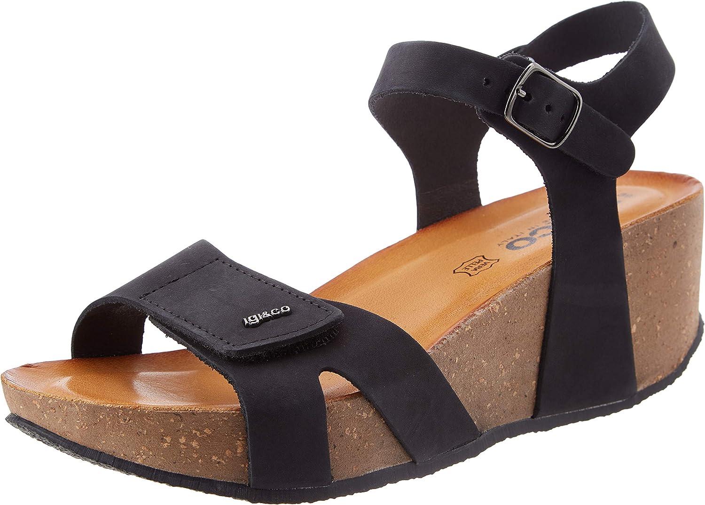 IgICO Cheap bargain Women's DNI Free shipping 71861 Sandal Wedge 4 Black
