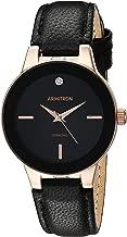 Armitron Women's 75/5410 Diamond-Accented Leather Strap Watch