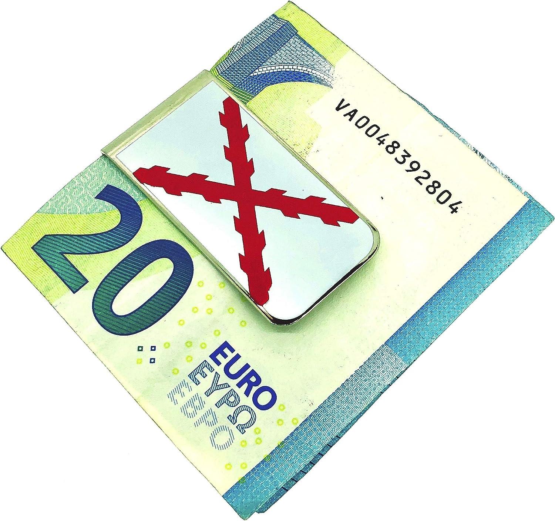Gemelolandia   Money Clip Pinza de Billetes Bandera de la Cruz de Borgoña San Andrés   Pines Originales Para Regalar   Para las Camisas, la Ropa o para tu Mochila   Detalles Divertidos