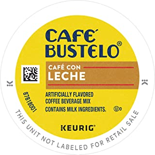 Cafe Bustelo Café Con Leche, Sweet & Creamy, Espresso Coffee, K Cup Pods for Keurig Brewers, 96Count