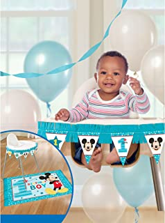 Amscan 1st Birthday Mickey Mouse High Chair Decorating Kit Party Supplies Fun To Be One