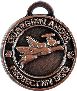 Luxepets Pet Collar Charm, Guardian Angel Dog, Antique Copper