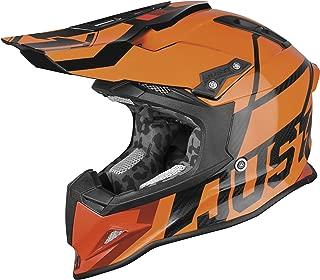Just 1 J12 Unit Carbon Helmet Fluorescent Orange (Orange, Large)