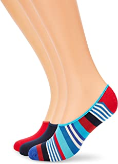 3-pack Multi Stripe Liner Sock Calcetines, Multicolor (Multicolour 630), 7-10 (Talla del fabricante: 41-46) (Pack de 3) para Hombre