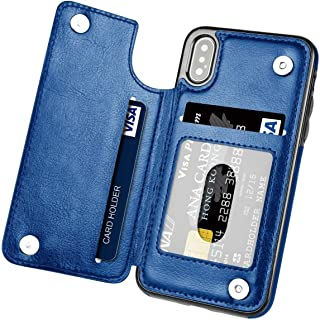 iPhone XS MAX Case With Wallet,  PU Leather Protective Case with Card Slot Holder, Double Magnetic Clasp and Durable Shock...