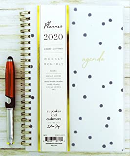 Blue Sky 2020 Year Weekly & Monthly Planner, Flexible Cover, Twin-Wire Binding, 5
