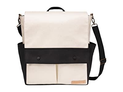 petunia pickle bottom Glazed Color Block Pathway Pack (Birch/Black) Diaper Bags