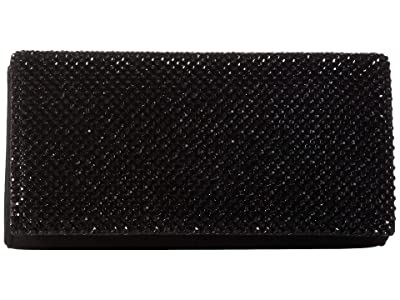 Jessica McClintock Luisa Flap Clutch (Black) Handbags