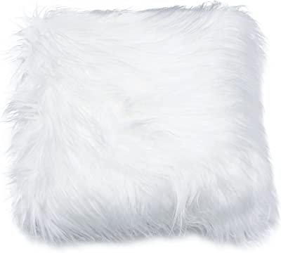 "Thro by Marlo Lorenz TH010118004E 12x20 Keller Mongolian Reverse to Micromink Pillow, 12"" x 20"", Bright White"