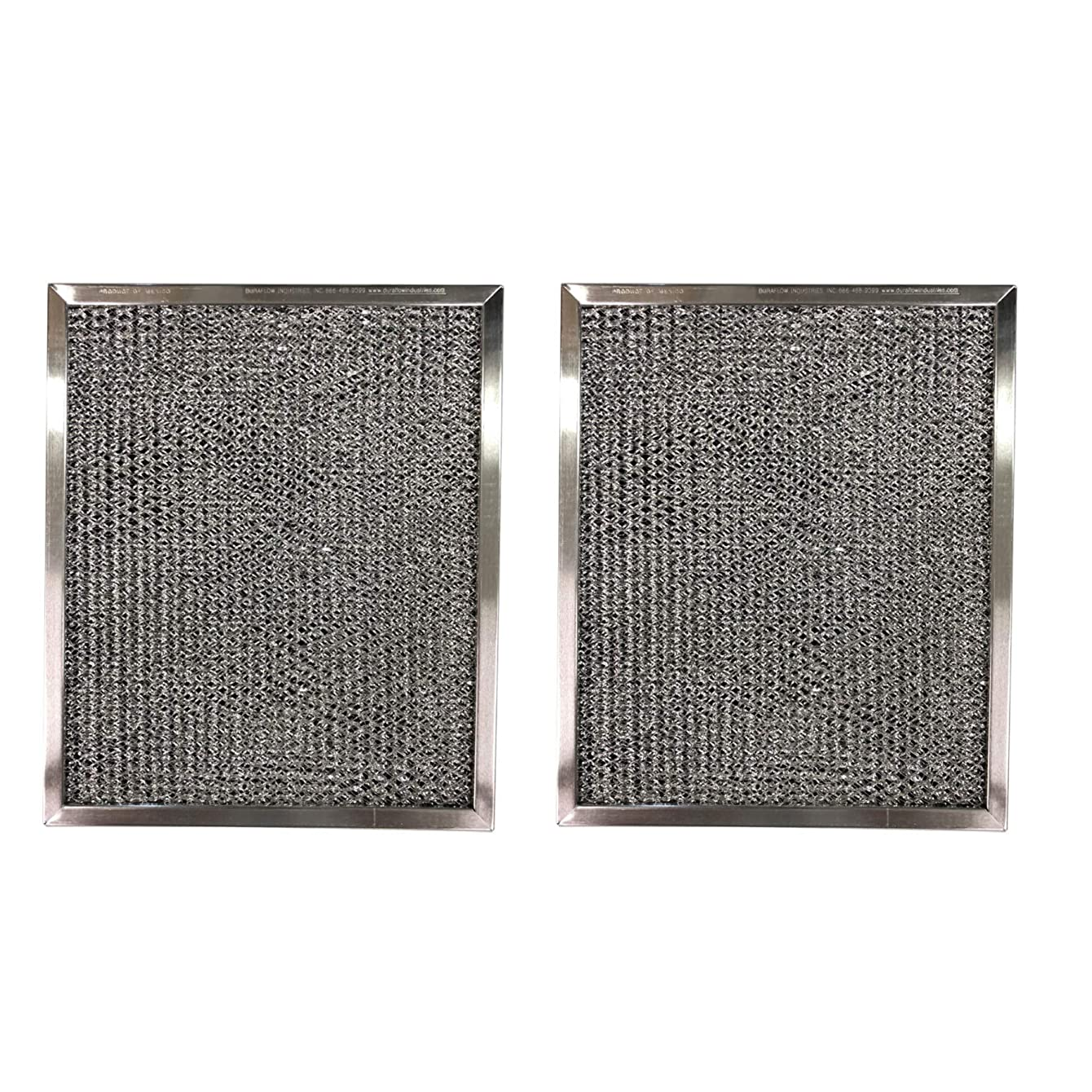 Aluminum Replacement Range Filter Compatible With Nutone K079000, K079-000- Dimensions: 8 x 11 x 3/8-2 Pack