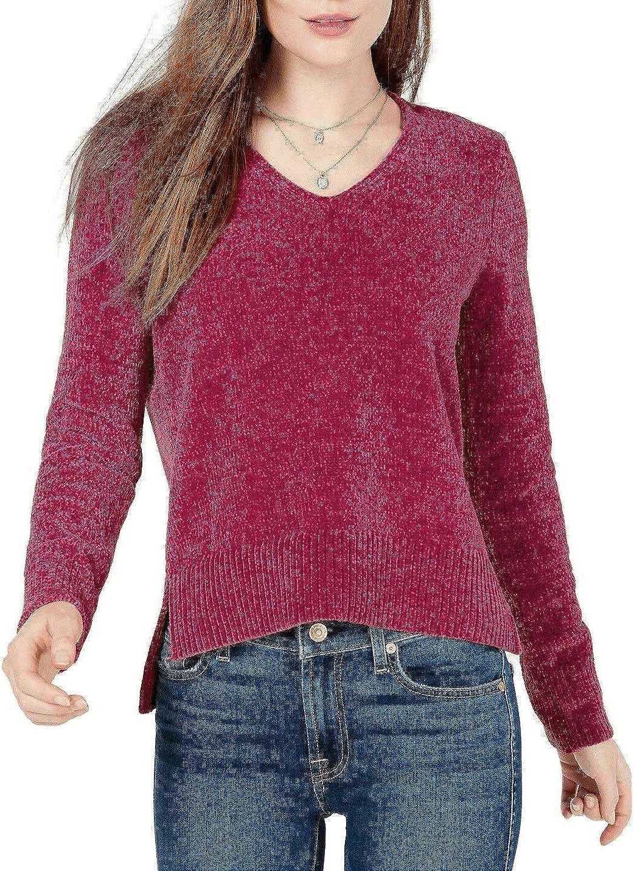 maison Jules Womens Pullover Sweater, Pink, Medium
