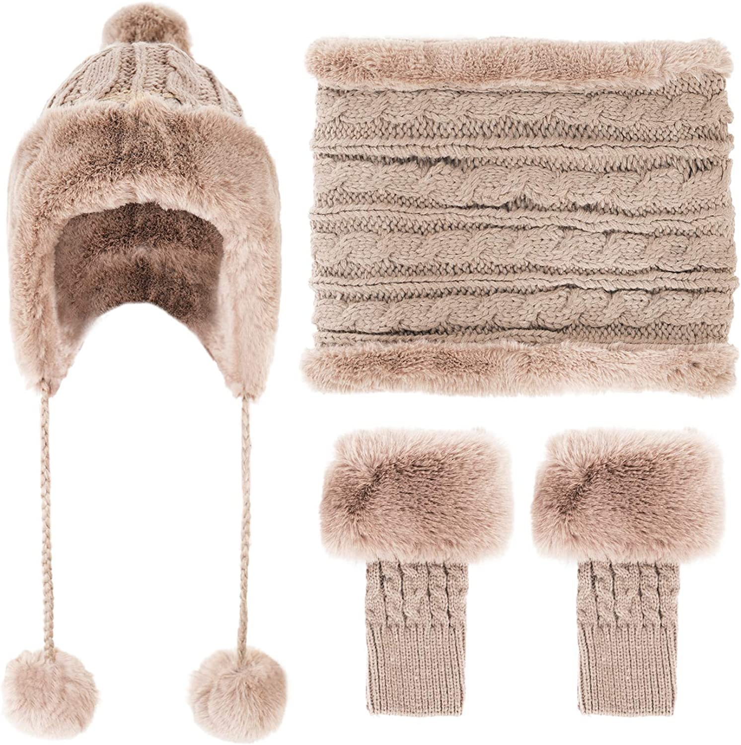 Lovful Women Earflap Beanie Hat Lined Winter Max 57% OFF Snow Fleece Directly managed store Ski