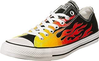 Converse Chuck Taylor all Star - Ox - Nero/Enamel Rosso/Fresh Giallo Canvas