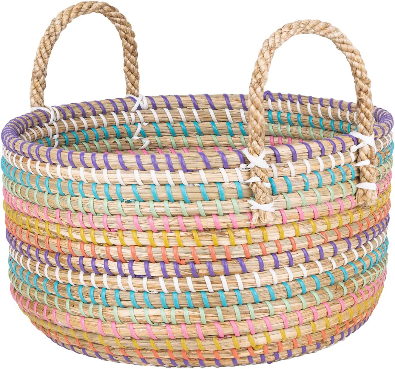 Modern New popularity Max 66% OFF Village Floor Basket for Throws Storage Blankets Pets