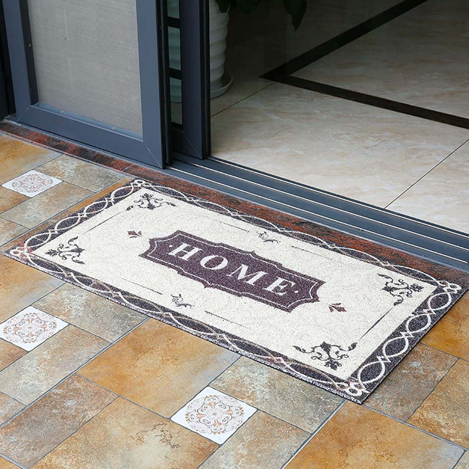 Babe MAPS Indoor Outdoor Doormat Entrance Welcome Mat Absorbent Runner Inserts Non Slip Entry Rug Funny Home Text Home Decor for Inside shoes Scraper Floor Carpet 23 x35