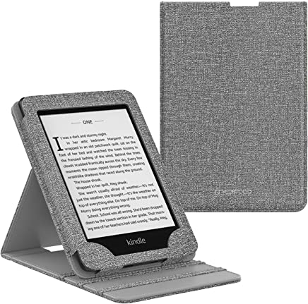 MoKo Case Fits Kindle Paperwhite (10th Generation, 2018 Releases), Premium Vertical Flip Cover with Auto Wake/Sleep Compatible for Amazon Kindle Paperwhite 2018 E-Reader - Gray