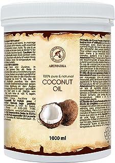 Aceite de Coco 1000ml - Aceite de Coco Nucifera - Indonesia - 100% Puro & Natural - Prensado en Frнo - Mejores Beneficios ...