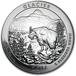 glacier national park silver coin