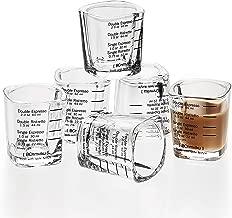 Espresso Shot Glass Liquid Heavy Sturdy Glass Shot Glasses Measuring cup Wine Glass 6 Pack 2oz/60ml By BCnmviku (Sturdy 6Pack)