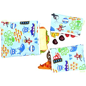 wegreeco Reusable Sandwich & Snack Bags - Set of 3 - (Diving)