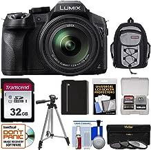 Panasonic Lumix DMC-FZ300 4K Wi-Fi Digital Camera with 32GB Card + Battery + Backpack + Tripod + 3 Filters + Kit