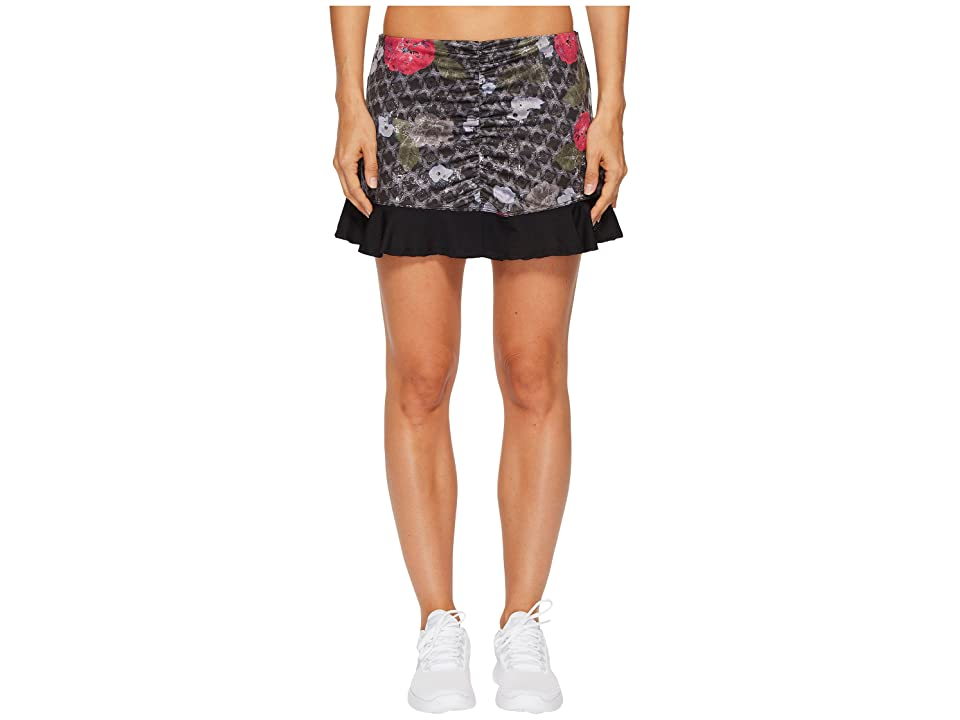 Eleven by Venus Williams Floral Brocade Recoil Skirt 13 (Floral Brocade) Women